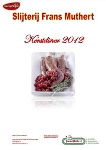 Slijterij Frans Muthert Kerstdiner 2012