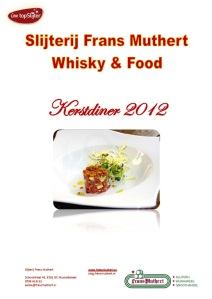 Slijterij Frans Muthert Whisky & Food Kerstdiner 2012
