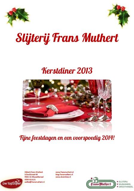 Slijterij Frans Muthert Kerstdiner 2013