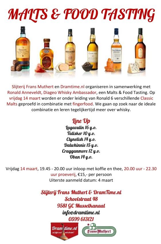 Malts & Food Tasting 14 maart uitnodiging