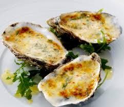 gegratineerde oesters