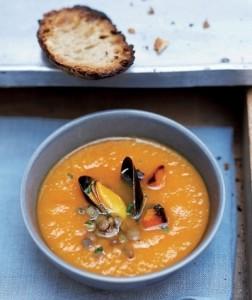 mossel kerrie soep
