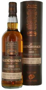 GlenDronach 11yo 2003 Single Cask Virgin Oak Hogshead 1748 voor topSlijter
