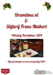 Dramtime whisky kerstdiner 2014
