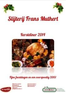 Slijterij Frans Muthert Kerstdiner 2014