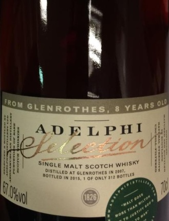 Adelphi Glenrothes 2007 8yo review