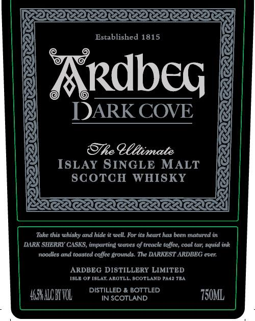 Ardbeg Dark Cove Label Front
