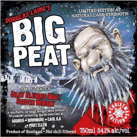 Big Peat Christmas Edition 2017 front label Cola