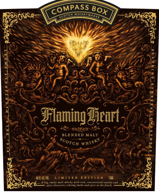 Compass Box Flaming Heart 2018 front label