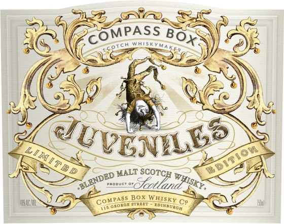 Compass Box Juveniles front label
