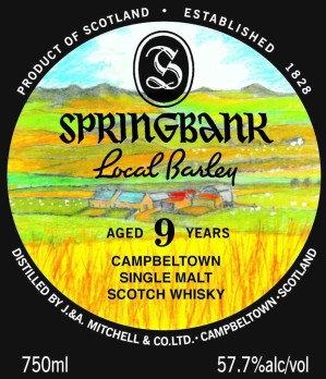 Springbank Local Barley 9yo label