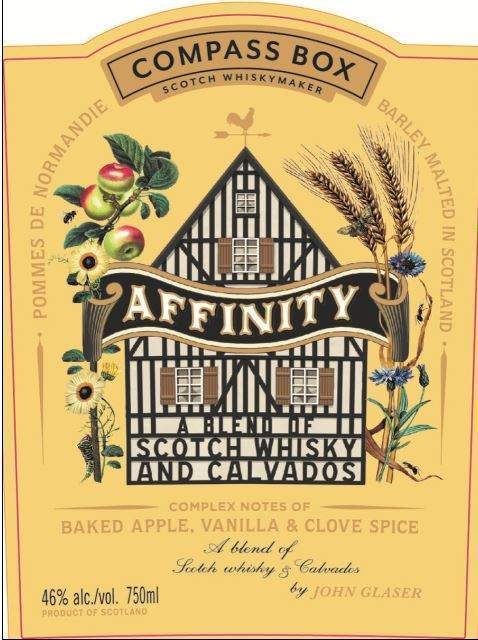 Compass Box Affinity front label