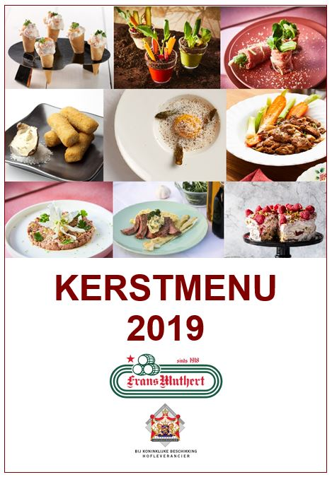Kerstmenu 2019 front cover