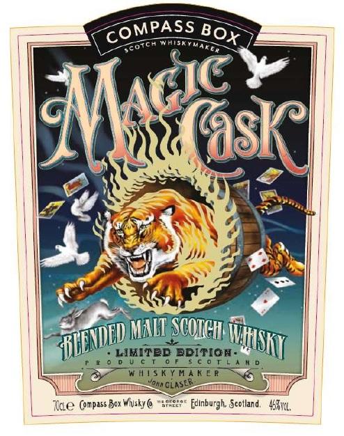 Compass Box Magic Cask front label